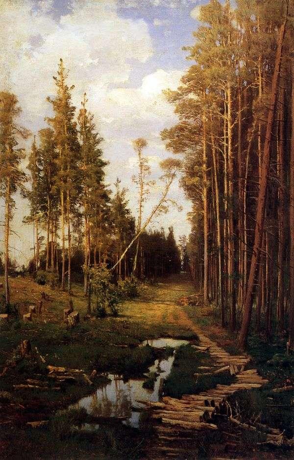 松林中的林间空地   阿列克谢萨夫拉索夫
