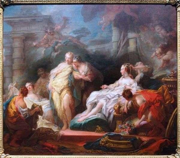 Psyche向他的姐妹们展示了丘比特的礼物   Jean Honore Fragonard