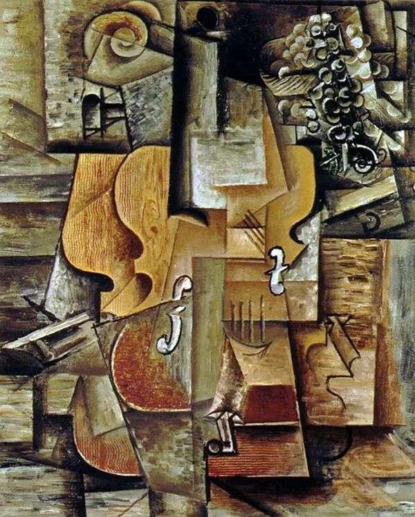 小提琴和葡萄   巴勃罗毕加索