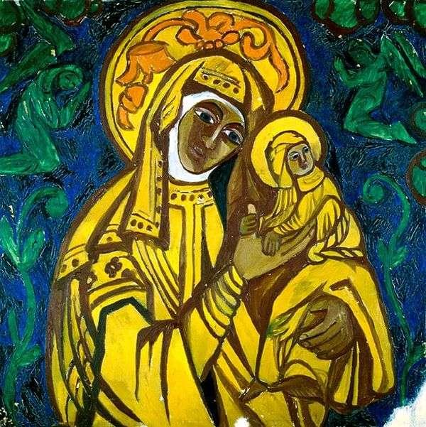 圣母子女   Natalya Goncharova