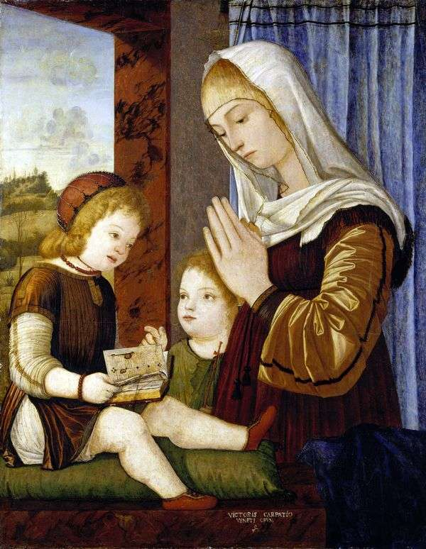 麦当娜和儿童与施洗约翰   维托里奥卡尔帕乔