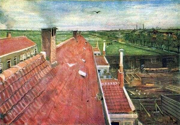 屋顶。从车间看   文森特梵高