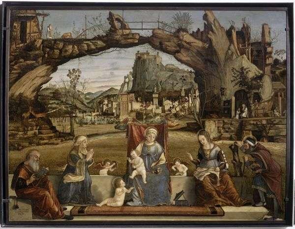 麦当娜和儿童与圣徒   Vittore Carpaccio