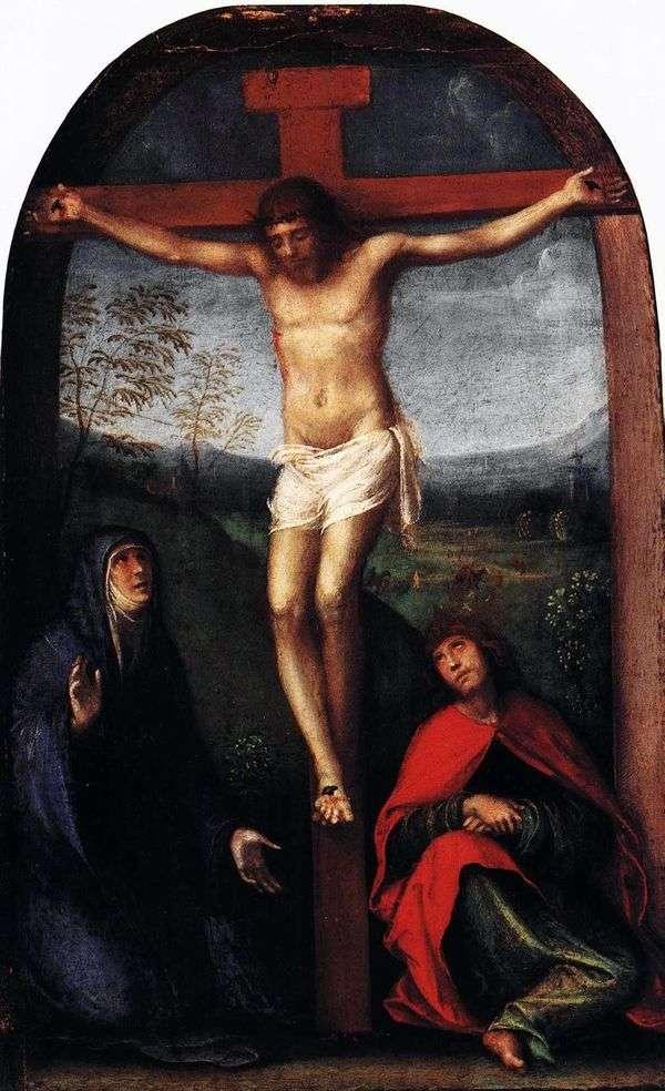 钉在十字架上的基督与玛利亚和圣约翰福音传教士   弗朗切斯科弗朗什
