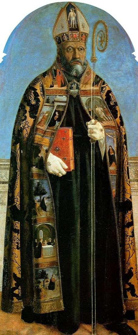 来自SantAgostino教堂的祭坛图像:圣奥古斯丁   皮耶罗德拉弗朗西斯卡
