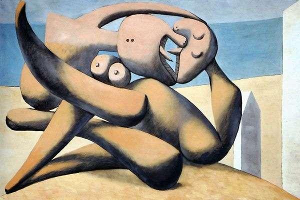 海滩上的数字   Pablo Picasso