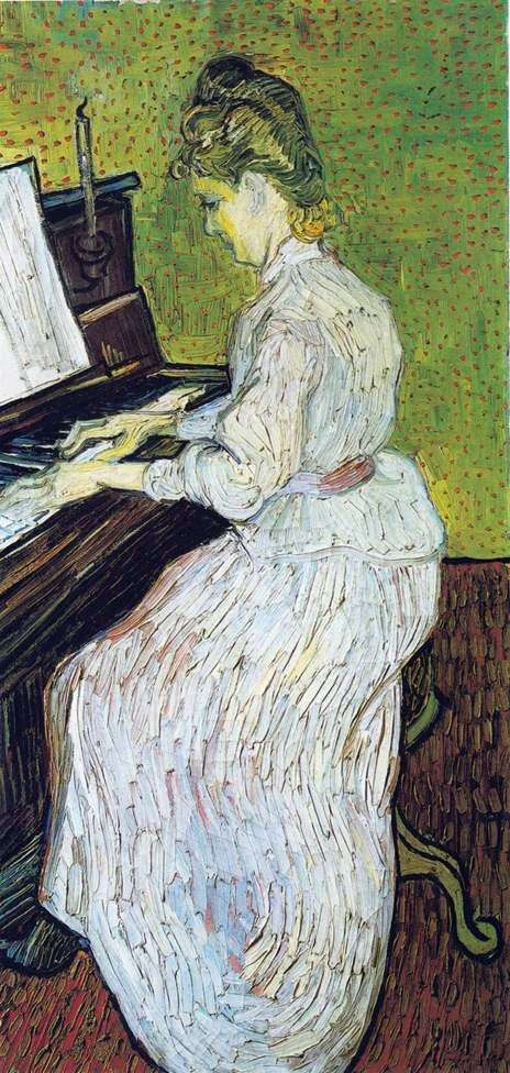 Margarita Gachet在钢琴上   Vincent Van Gogh