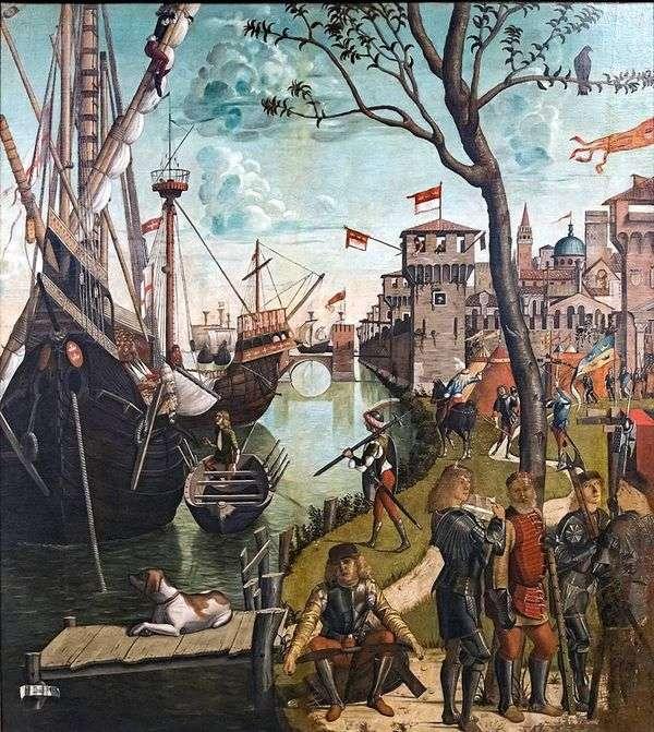 圣厄秀拉和朝圣者到达科隆   Vittore Carpaccio