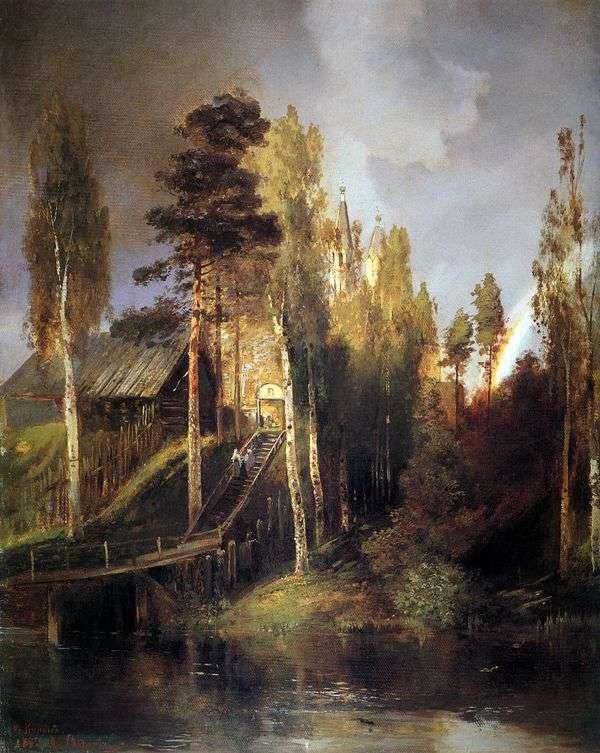 在修道院的大门   阿列克谢萨夫拉索夫