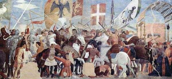 赫拉克勒斯与霍兹罗伊之战   皮耶罗德拉弗朗西斯卡