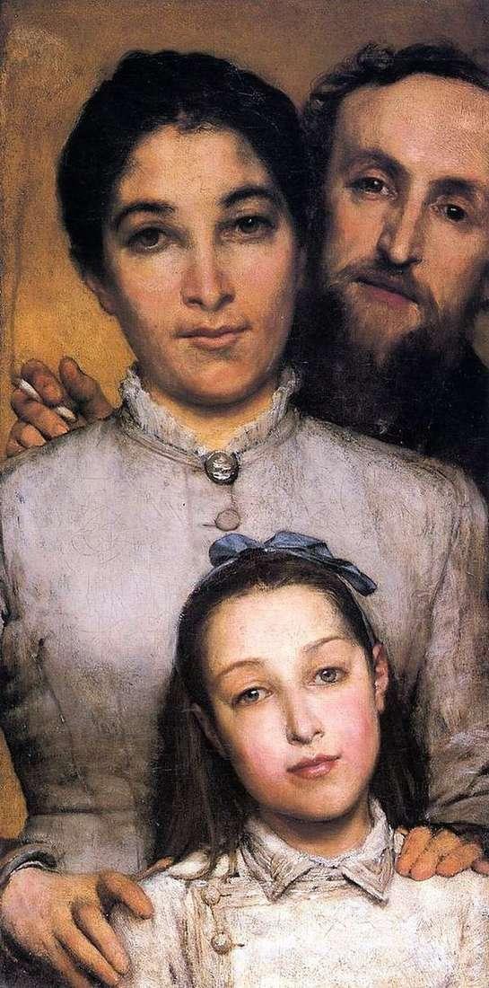 Aime Jules Dahl,他的妻子和女儿   劳伦斯 阿尔玛   塔德玛