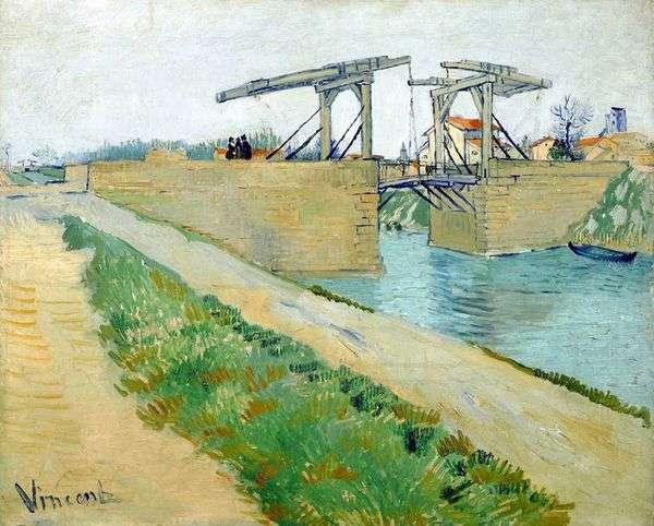 阿尔勒朗格卢瓦桥和运河沿岸的道路   文森特凡高