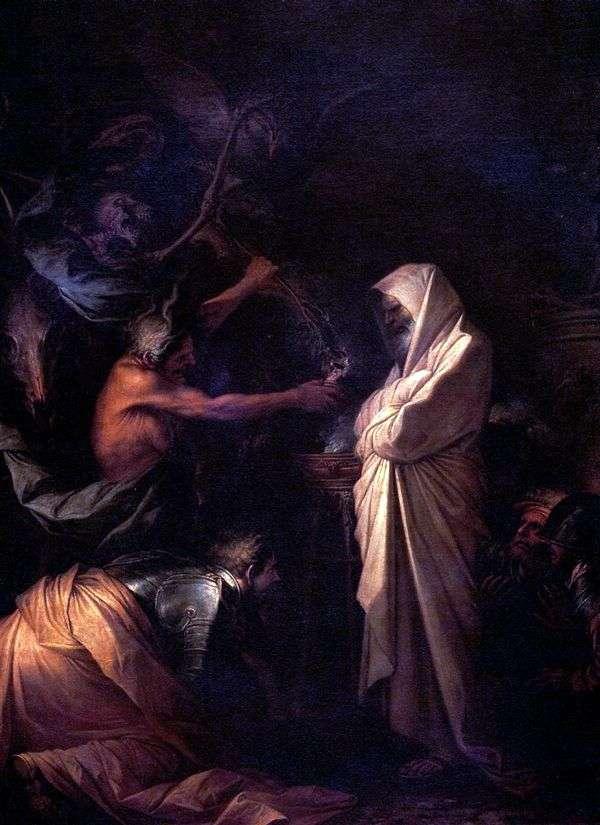 塞缪尔的精神被埃纳多的女巫   罗莎萨尔瓦托召唤到扫罗