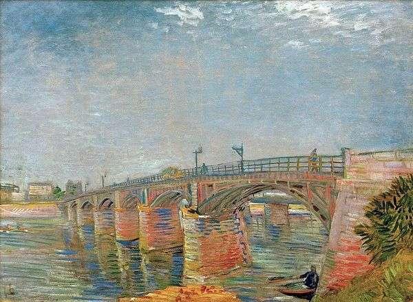 安耶尔塞纳河上的大桥   文森特梵高