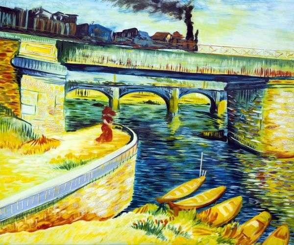 塞纳河上的桥梁   文森特梵高