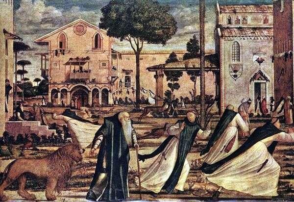 圣杰罗姆通往狮子修道院   Vittorio Carpaccio