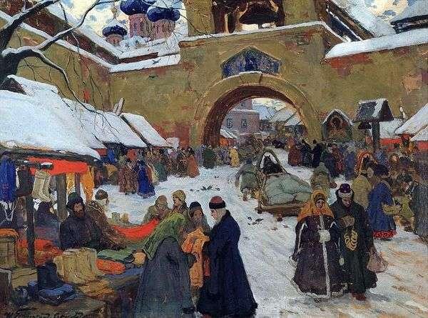 在老城区的集市日   Ivan Goryushkin Sorokopudov