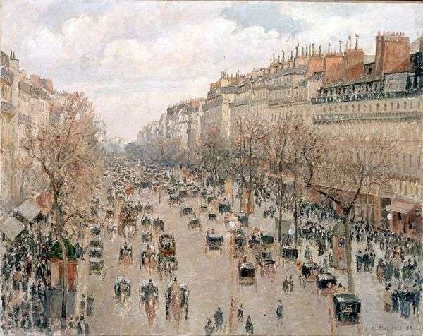蒙马特大道。下午,阳光明媚   Camille Pissarro