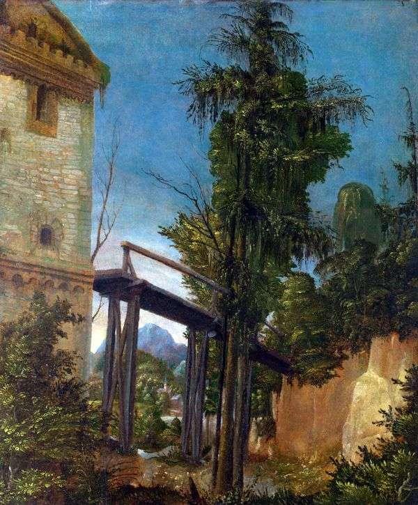 景观与桥   阿尔布雷希特Altdorfer