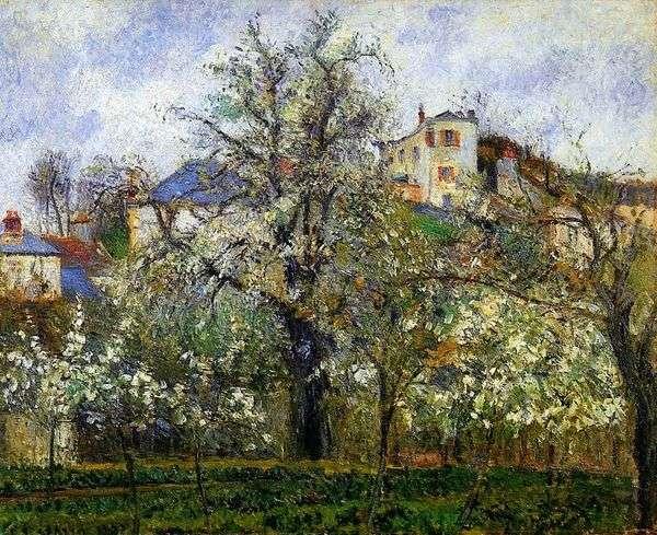 春天在蓬图瓦兹   卡米尔Pissarro