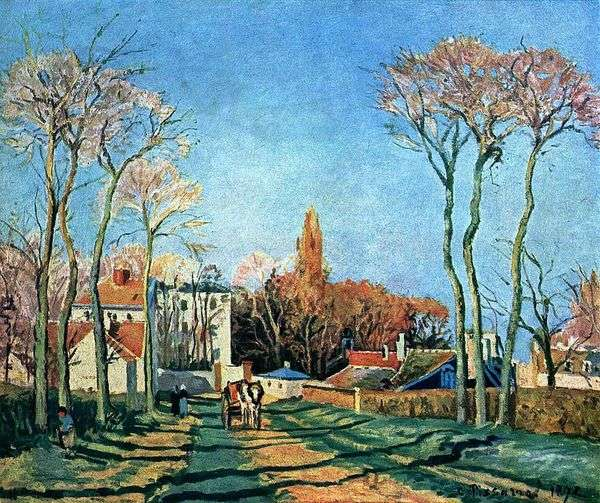 进入Voisin村   Camille Pissarro