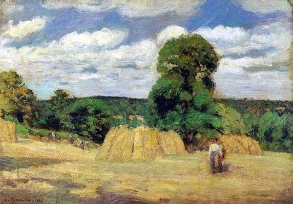 在Montfuco附近的收获   Camille Pissarro