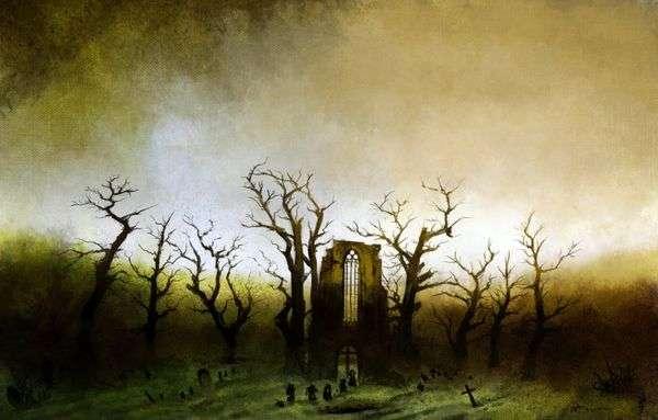橡树林中的修道院   卡斯帕大卫弗里德里希