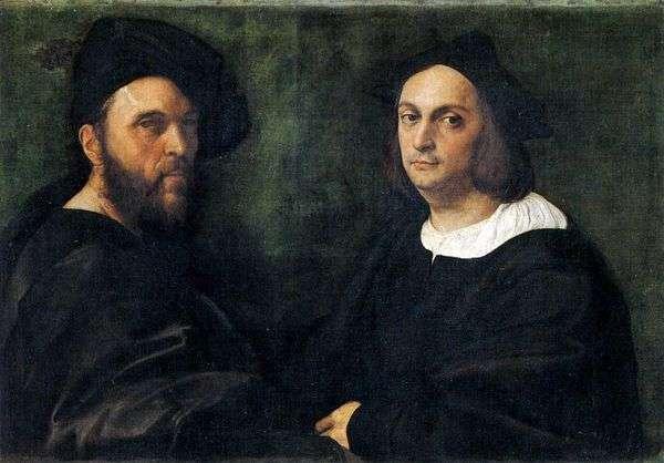 双人肖像   拉斐尔桑蒂