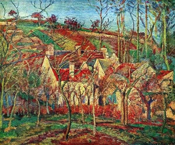 红色屋顶   Camille Pissarro