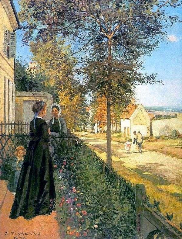 Luvesenn。通往凡尔赛的道路(从凡尔赛到Lyuvesien的道路)   Camille Pissarro