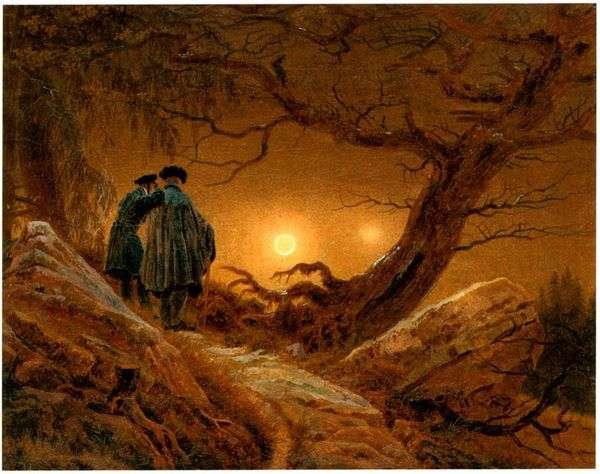 二,考虑月亮   卡斯帕大卫弗里德里希