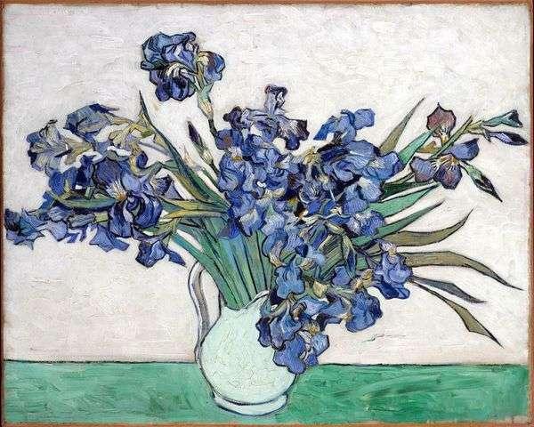 静物:花瓶与鸢尾花   文森特梵高