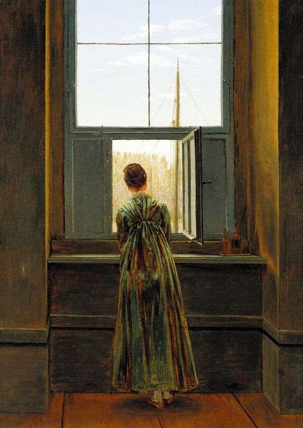 靠窗的女人是卡斯帕   大卫弗里德里希