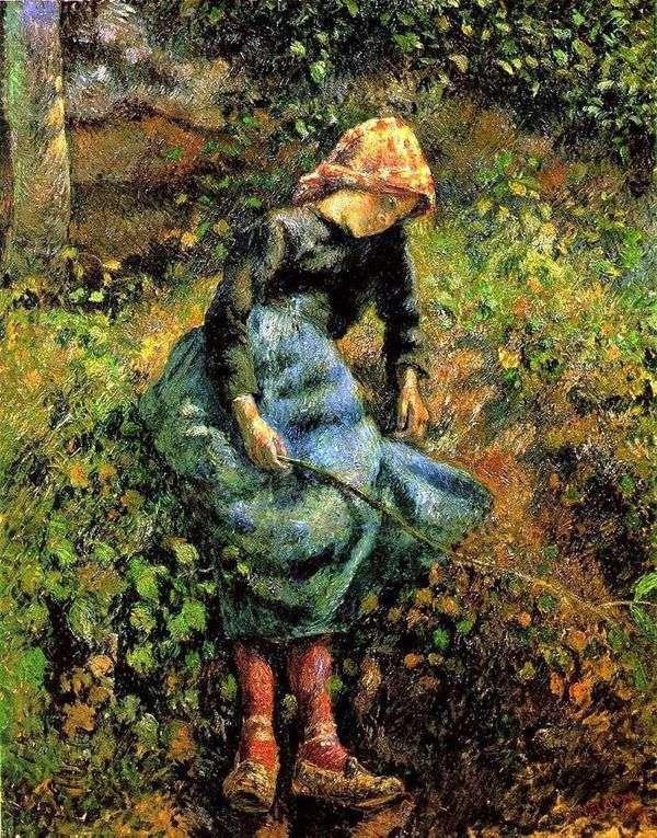 女牛仔(有标尺的女孩)   卡米尔Pissarro