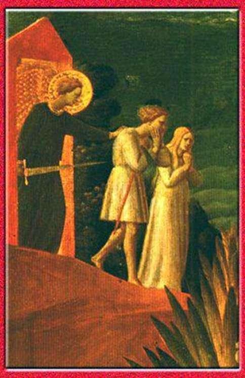 驱逐。壁画。Roshchenie的施洗约翰教堂   Fra Beato Angelico