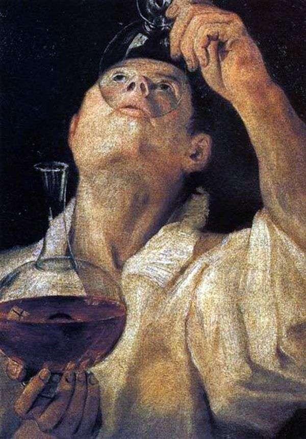 一个饮用的男孩的画象   Annibale Carracci