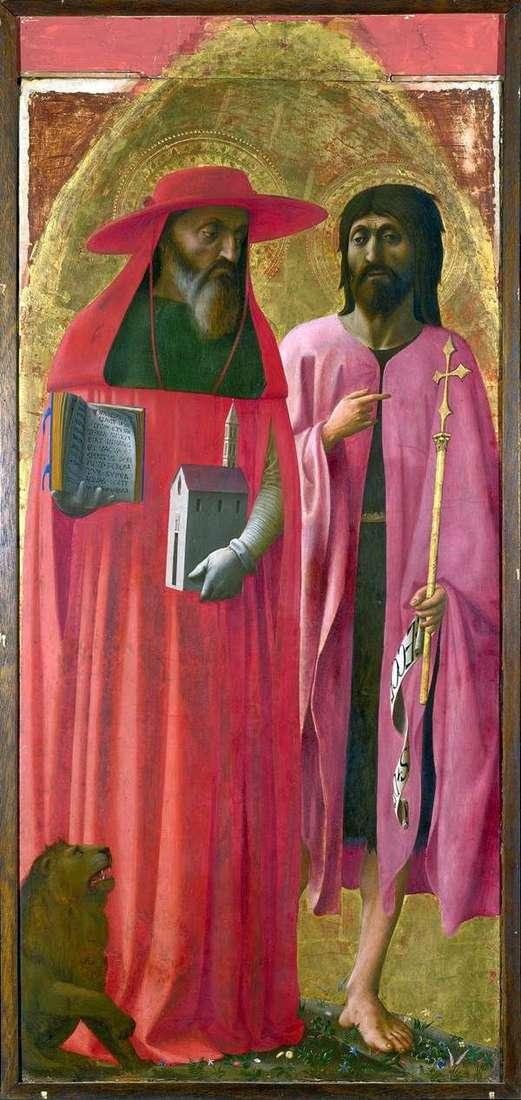 Saints Jerome和John the Baptist   Tommaso di Giovanni Masaccio