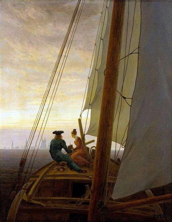 在帆船上   卡斯帕大卫弗里德里希