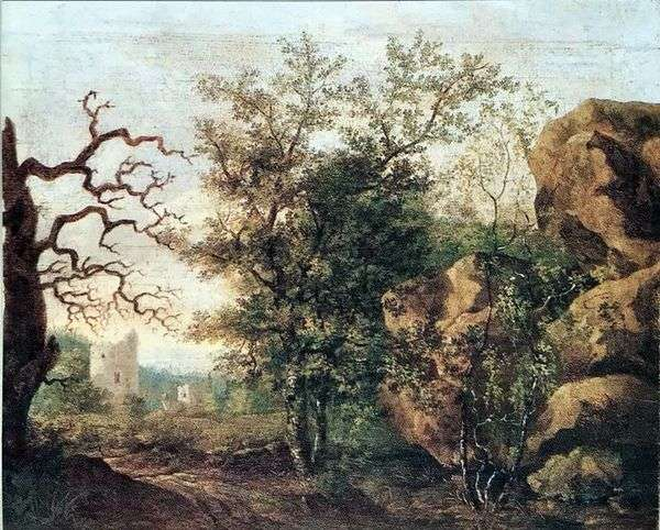 景观与干树   卡斯帕大卫弗里德里希