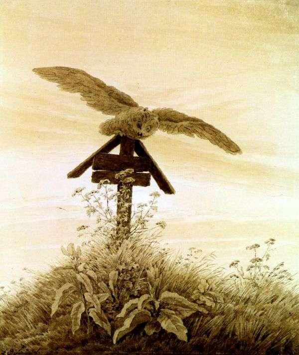 猫头鹰在坟墓   卡斯帕大卫弗里德里希