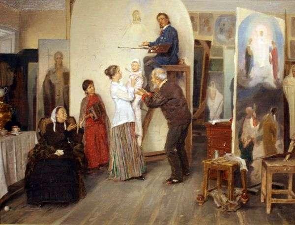 在艺术家的工作室   弗拉基米尔Makovsky