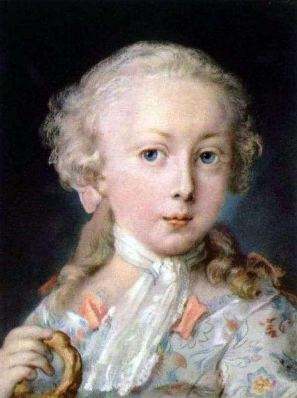 一个孩子的画象从Le Blon家庭   Rosalba Carriera