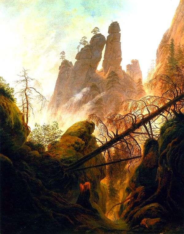 峡谷   卡斯帕大卫弗里德里希