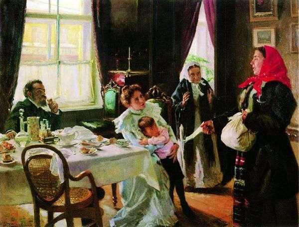 两位母亲。母亲收养和本地人   弗拉基米尔Makovsky