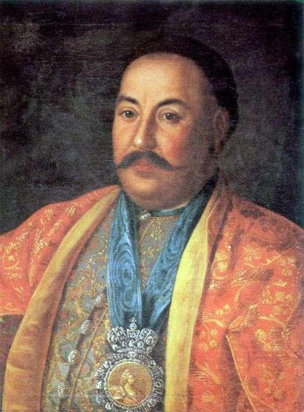 Ataman F. I. Krasnoshchekov   Alexey Antropov的肖像
