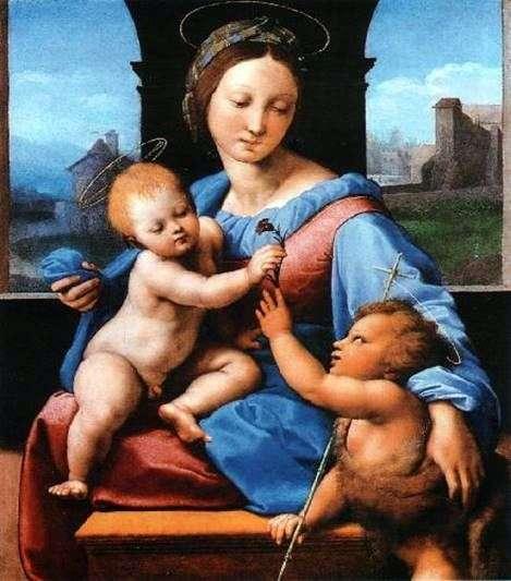 麦当娜和孩子与施洗约翰   拉斐尔桑蒂