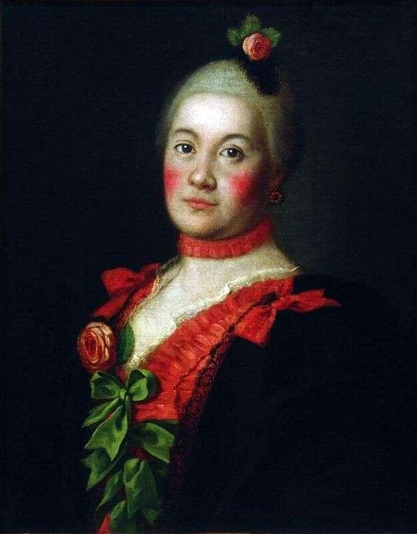 公主T. A. Trubetskoy的肖像   阿列克谢安特罗波夫
