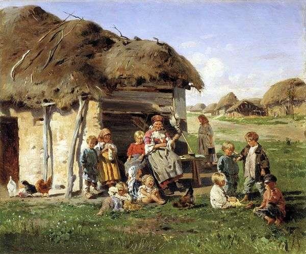 农民孩子   弗拉基米尔Makovsky