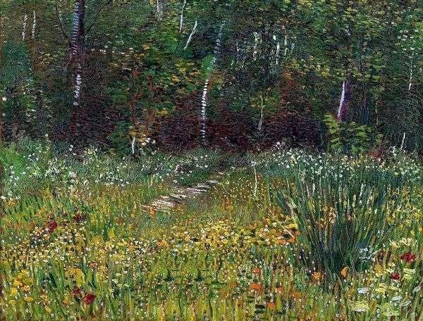 春天的安耶尔公园   文森特梵高