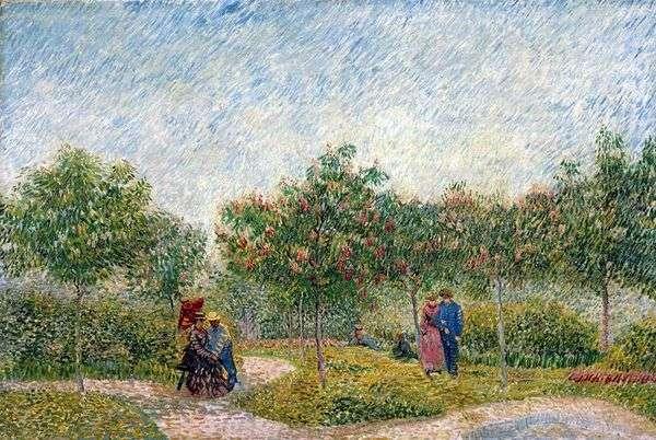 在Anyier的Parc dArgenson夫妇   Vincent Van Gogh